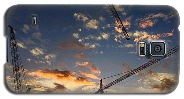 Professional Galaxy S5 Case - Construction Cranes At Sunset by Juan Silva
