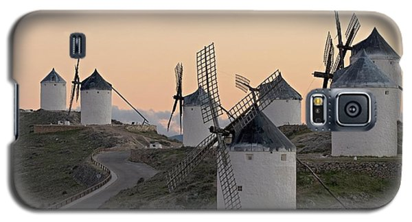 Galaxy S5 Case featuring the photograph Consuegra Windmills by Heiko Koehrer-Wagner
