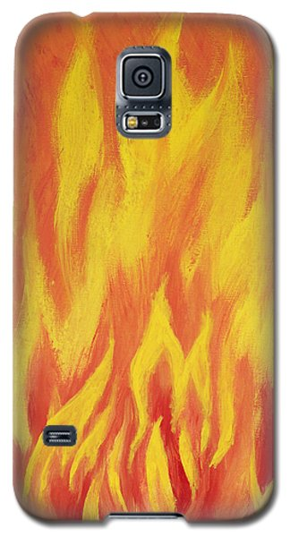 Galaxy S5 Case featuring the painting Consuming Fire by Antonio Romero