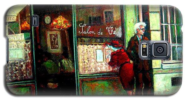 Galaxy S5 Case featuring the painting Contemplando El Menu-looking Up The Menu by Walter Casaravilla