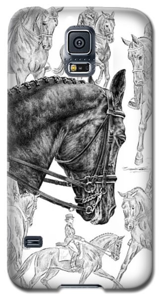 Contemplating Collection - Dressage Horse Drawing Galaxy S5 Case