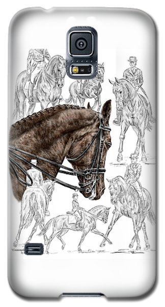 Contemplating Collection - Dressage Horse Print Color Tinted Galaxy S5 Case