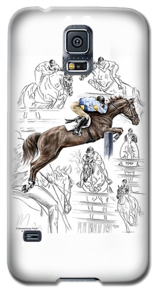 Contemplating Flight - Horse Jumper Print Color Tinted Galaxy S5 Case