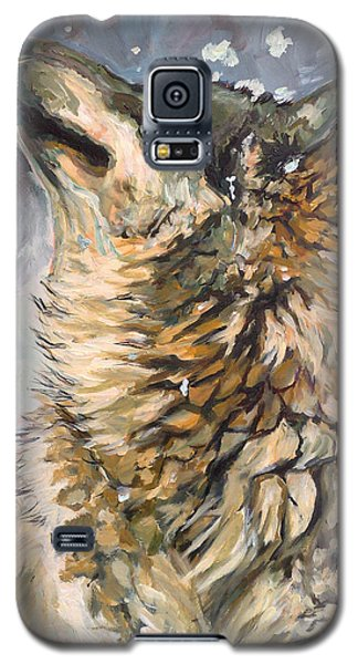 Galaxy S5 Case featuring the painting Contemplating The Snow by Koro Arandia
