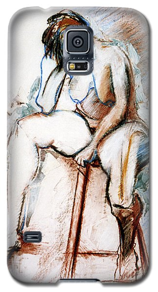 Contemplation - Nude On A Stool Galaxy S5 Case