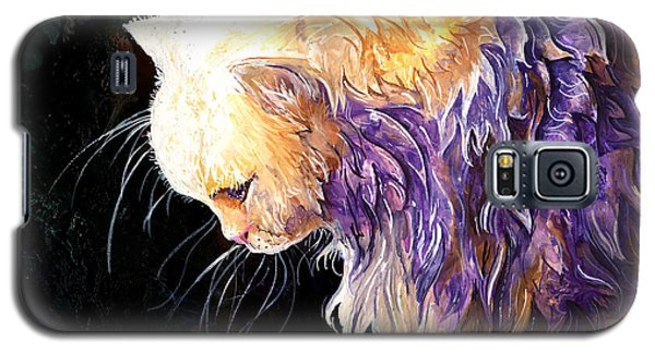 Galaxy S5 Case featuring the painting Contemplation by Sherry Shipley