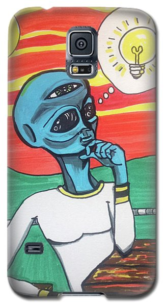Galaxy S5 Case featuring the painting Contemplative Alien by Similar Alien