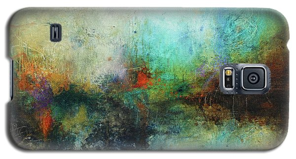 Galaxy S5 Case featuring the painting Contemporary Abstract Art Painting by Patricia Lintner