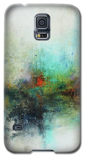 Contemporary Abstract Art Painting Galaxy S5 Case by Patricia Lintner
