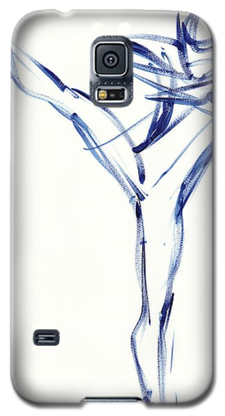 Contemporary Ballet Dancer, Blue Galaxy S5 Case