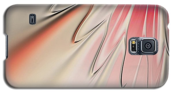 Galaxy S5 Case featuring the digital art Contemporary Flower by Bonnie Bruno