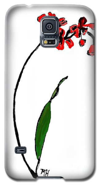 Galaxy S5 Case featuring the painting Contemporary Orchids by Marsha Heiken
