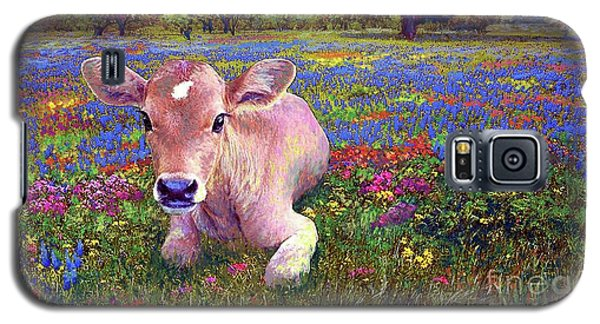 Contented Cow In Colorful Meadow Galaxy S5 Case