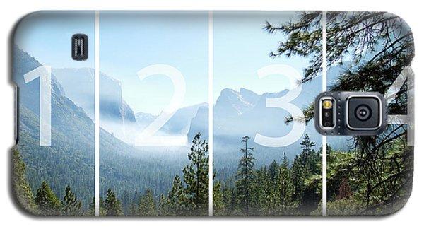 Controlled Burn Of Yosemite Panoramic Map Galaxy S5 Case