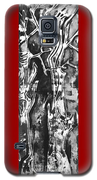 Galaxy S5 Case featuring the painting Convenor by Carol Rashawnna Williams