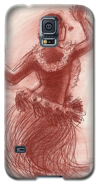 Cook Islands Drum Dancer From The Back Galaxy S5 Case