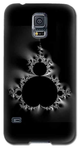 Cool Black And White Mandelbrot Set Galaxy S5 Case