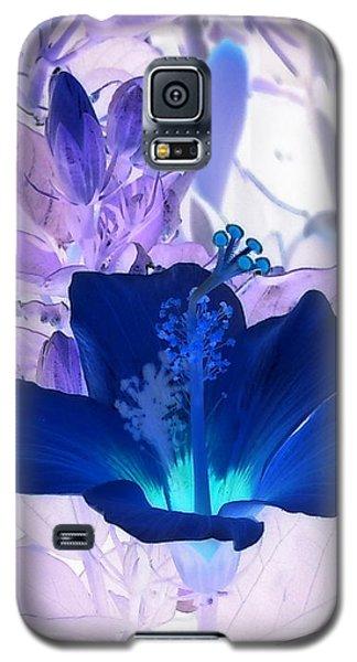 Cool Blue Hawaiian Hibiscus Galaxy S5 Case