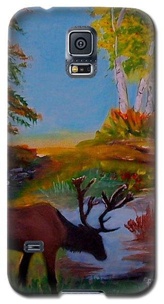 Galaxy S5 Case featuring the painting Cool Drink by Leslie Allen