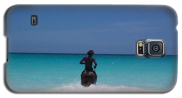 Galaxy S5 Case featuring the photograph Cool Off Man by Mary-Lee Sanders