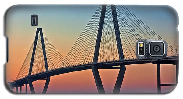 Cooper River Bridge Sunset Galaxy S5 Case by Suzanne Stout