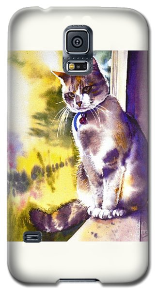 Coops The Cat Galaxy S5 Case by Sandra Phryce-Jones
