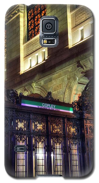 Galaxy S5 Case featuring the photograph Copley Square T Stop - Boston by Joann Vitali