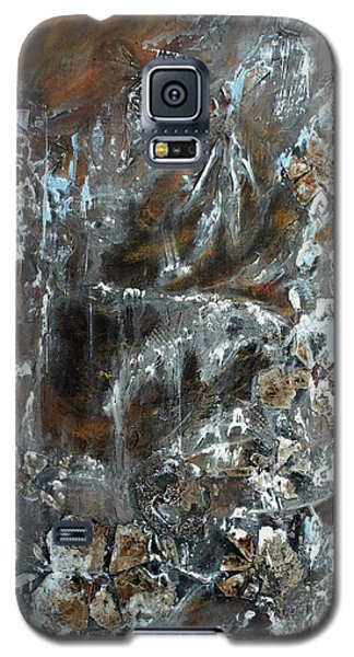Galaxy S5 Case featuring the painting Copper And Mica by Joanne Smoley