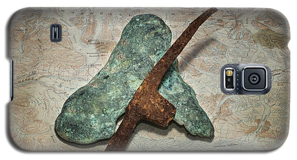 Copper Nugget Rock Hammer And Map Galaxy S5 Case
