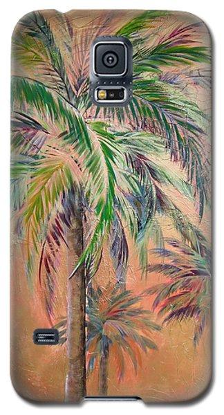 Copper Trio Of Palms Galaxy S5 Case