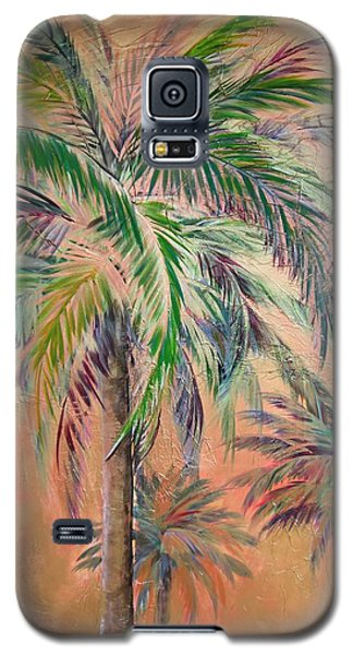 Copper Trio Of Palms Galaxy S5 Case