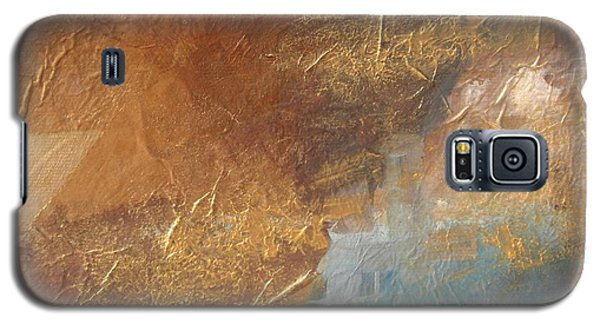 Copper Turquoise Abstract Galaxy S5 Case