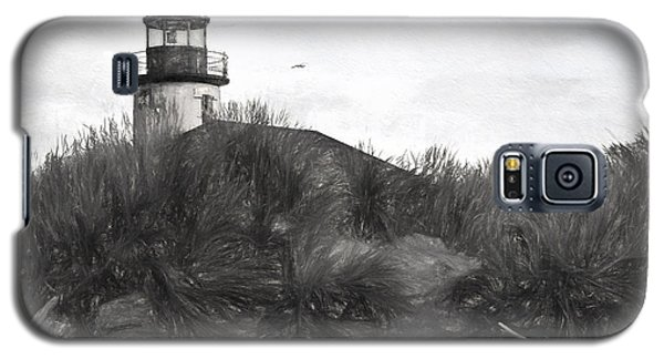 Coquille River Lighthouse Oregon Black And White Giclee Art Print Galaxy S5 Case