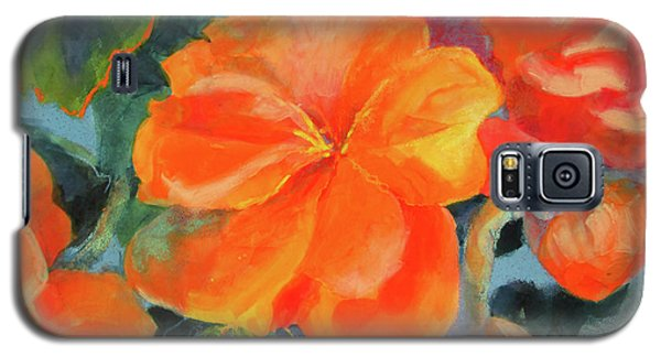 Galaxy S5 Case featuring the painting Coral Begonias by Kathy Braud