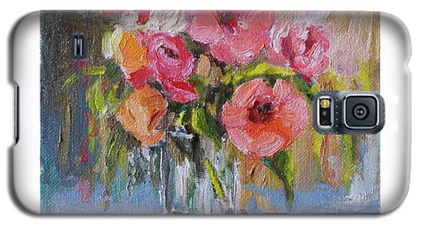 Galaxy S5 Case featuring the painting Coral Bouquet by Jennifer Beaudet