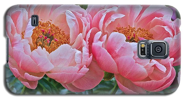 Coral Duo Peonies Galaxy S5 Case