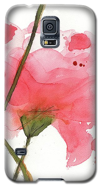 Galaxy S5 Case featuring the painting Coral Poppies by Dawn Derman