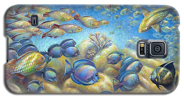 Galaxy S5 Case featuring the painting Coral Reef Life Silvers by Nancy Tilles