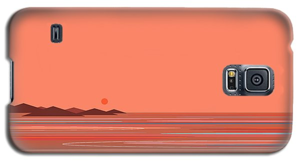 Galaxy S5 Case featuring the digital art Coral Sea by Val Arie