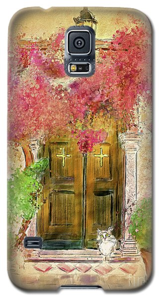 Galaxy S5 Case featuring the digital art Corfu Kitty by Lois Bryan