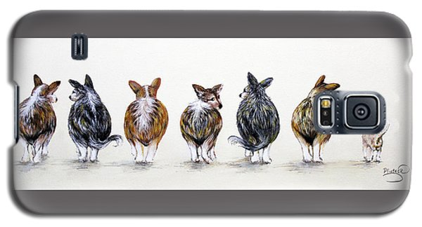 Corgi Butt Lineup With Chihuahua Galaxy S5 Case by Patricia Lintner