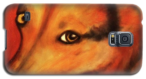 Corgi- Ellie Mae Galaxy S5 Case by Laura  Grisham