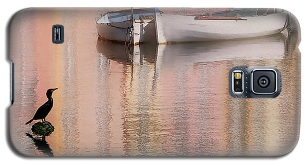 Cormorant And Boats Galaxy S5 Case