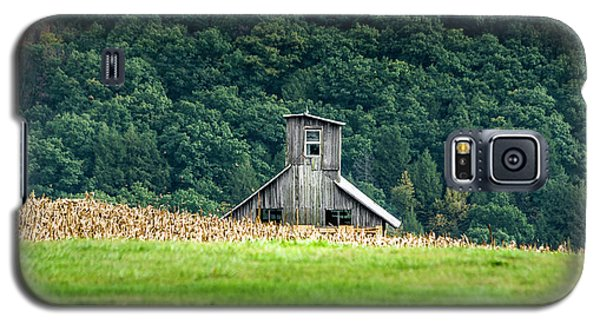 Galaxy S5 Case featuring the photograph Corn Field Silo by Marvin Spates