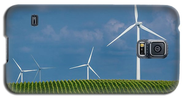 Corn Rows And Windmills Galaxy S5 Case