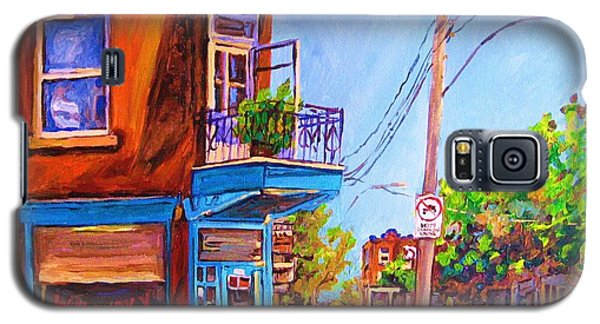 Galaxy S5 Case featuring the painting Corner Deli Lunch Counter by Carole Spandau