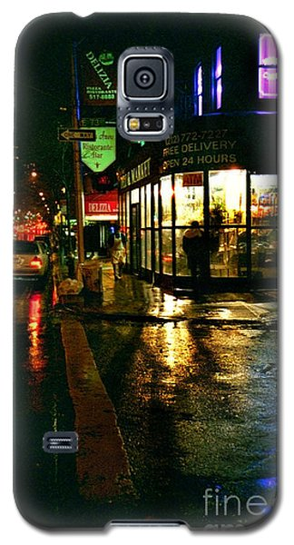 Galaxy S5 Case featuring the photograph Corner In The Rain by Miriam Danar