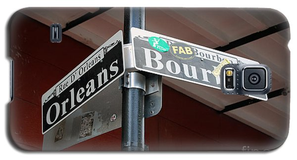 Corner Of Bourbon Street And Orleans Sign French Quarter New Orleans Galaxy S5 Case by Shawn O'Brien