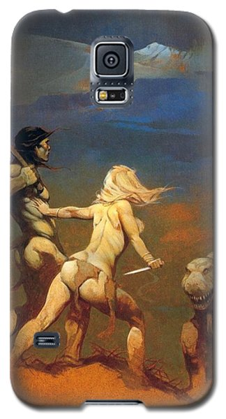Galaxy S5 Case featuring the painting Cornered by Frank Frazetta