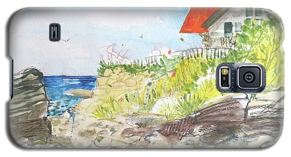 Galaxy S5 Case featuring the painting Cornfield Point Old Saybrook by Gertrude Palmer